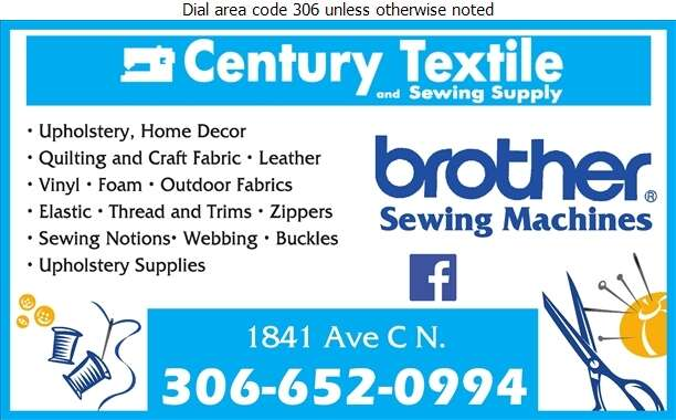 Century Textile & Sewing Supply - Fabric Shops Digital Ad