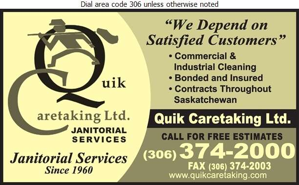 Quik Caretaking Ltd - Janitor Service Digital Ad