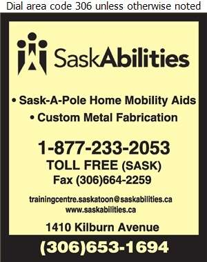 Saskatchewan Abilities Council (Depot/Repairs/Admin SPECIAL NEEDS EQUIPMENT) - Wheel Chair Lifts Digital Ad