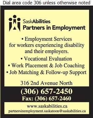 Partners in Employment - SaskAbilities - Employment Agencies Digital Ad