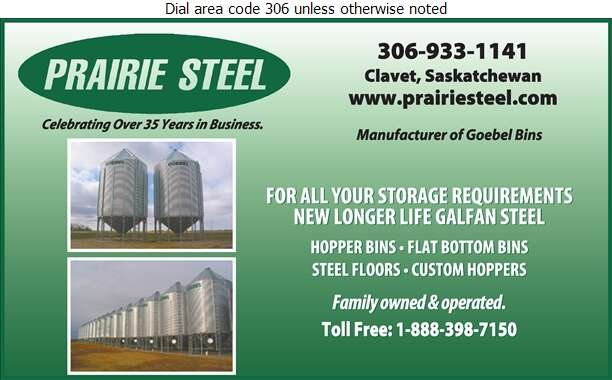 Prairie Steel Products - Granaries Digital Ad