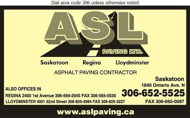ASL Paving Ltd - Paving Contractors Digital Ad