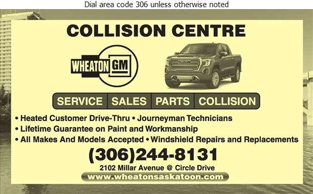Wheaton GMC Buick Cadillac Ltd - Auto Body Repairing Digital Ad