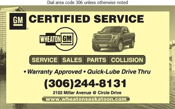 Wheaton GMC Buick Cadillac Ltd - Auto Repairing Digital Ad