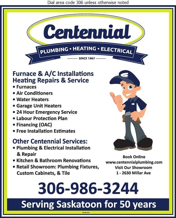 Centennial Plumbing Heating & Electrical - Furnaces Heating Digital Ad