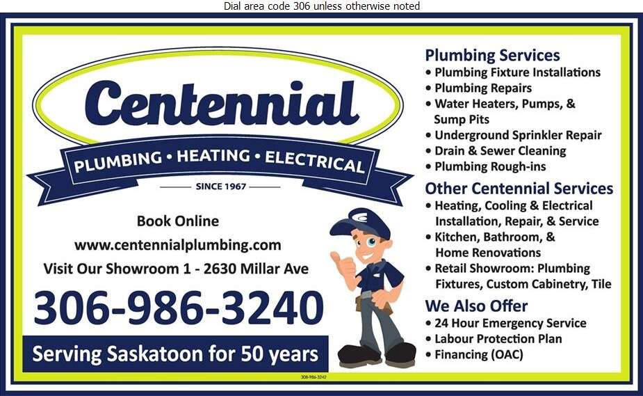 Centennial Plumbing Heating & Electrical - Plumbing Contractors Digital Ad