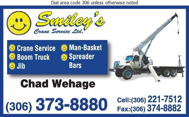 Smiley's Crane Service Ltd - Crane Service Digital Ad