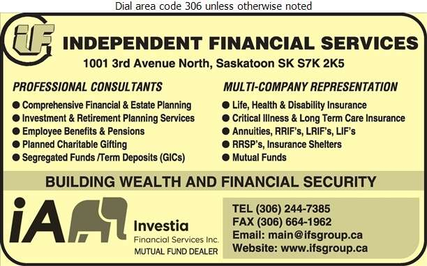 Independent Financial Services - Financial Planning Consultants Digital Ad