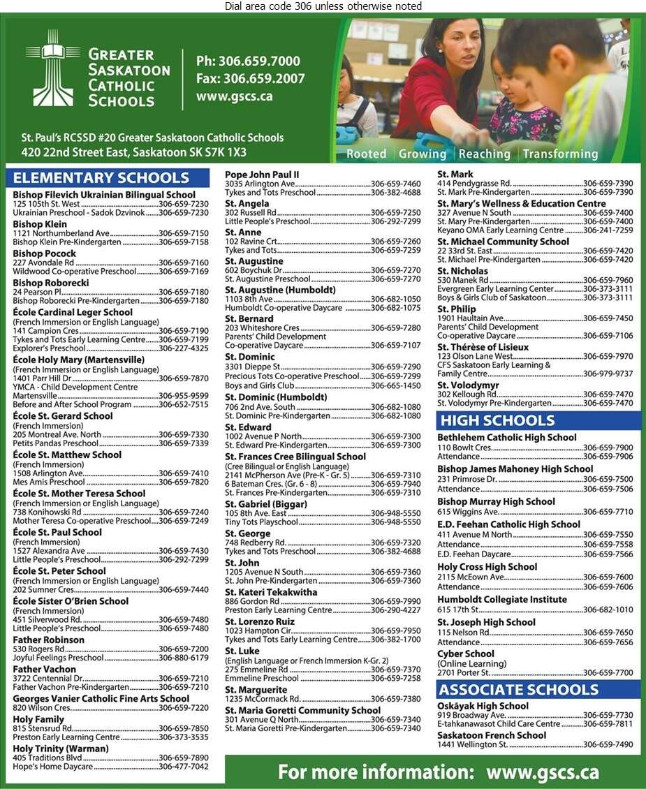 Board Of Education For Greater Saskatoon Catholic Schools - Schools & Colleges Digital Ad