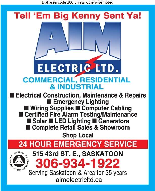 AIM Electric Ltd - Electric Contractors Digital Ad