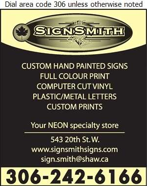 SignSmith The - Signs Digital Ad
