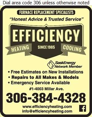 Efficiency Heating & Cooling - Heating Contractors Digital Ad