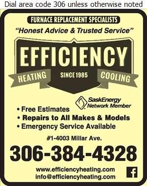 Efficiency Heating & Cooling - Plumbing Contractors Digital Ad