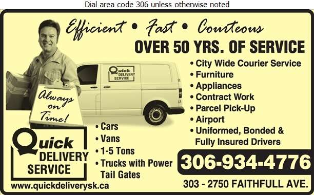 Quick Delivery Service - Courier Service Digital Ad
