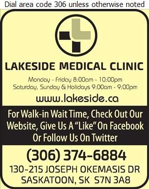 Lakeside Medical Clinic - Physicians & Surgeons Digital Ad