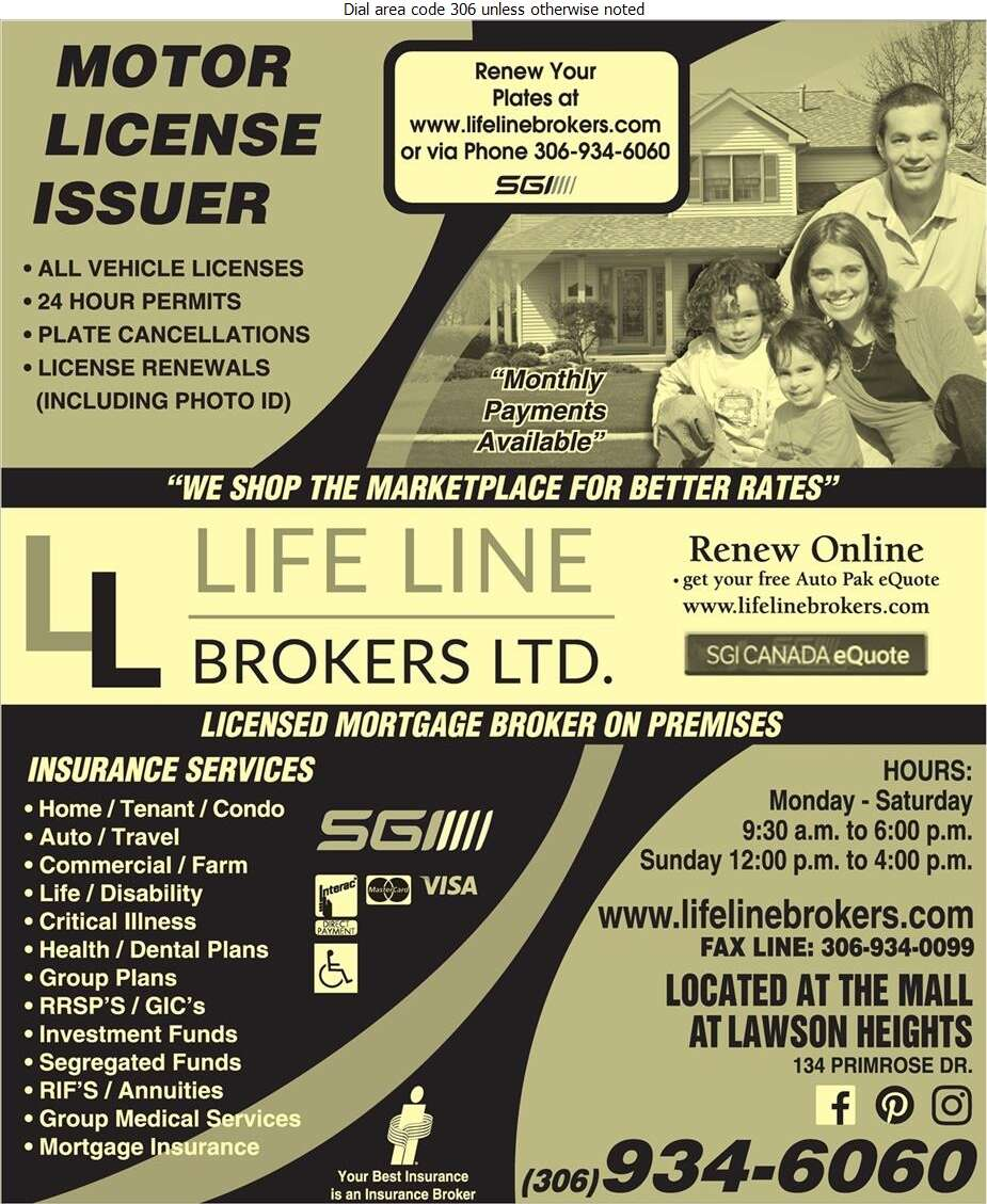 Life Line Brokers Ltd - Insurance Digital Ad