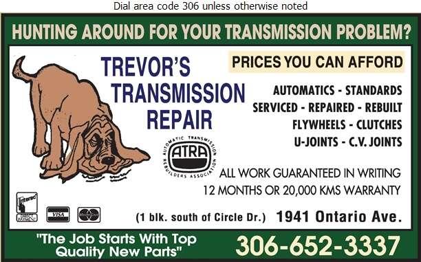 Trevor's Transmission Repair - Transmissions Auto Digital Ad