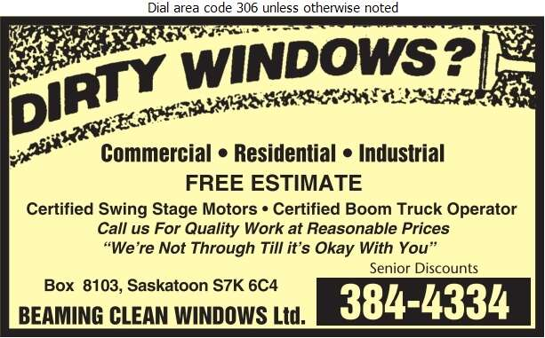 Beaming Clean Windows - Window Cleaners Digital Ad