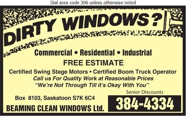 Beaming Clean Windows - Window Cleaners Digital Ad