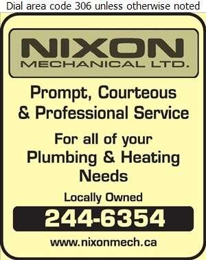 Nixon Mechanical Ltd - Plumbing Contractors Digital Ad