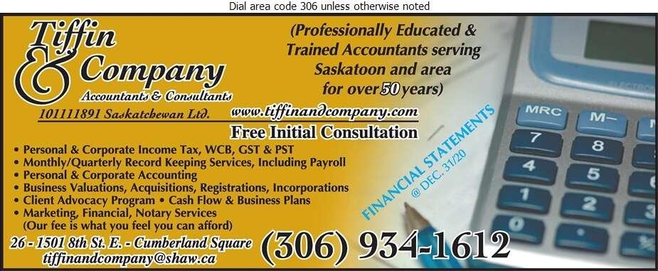 Tiffin & Company - Accountants & Auditors Digital Ad