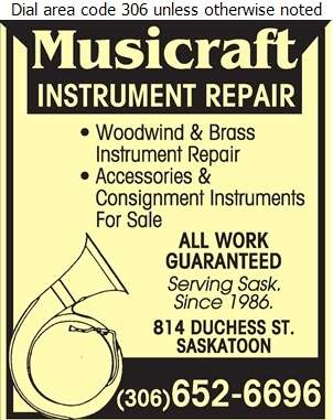 Musicraft Instrument Repair - Musical Instrument Repairs Digital Ad