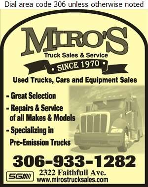 Miro's Truck Sales Ltd - Truck Dealers Digital Ad