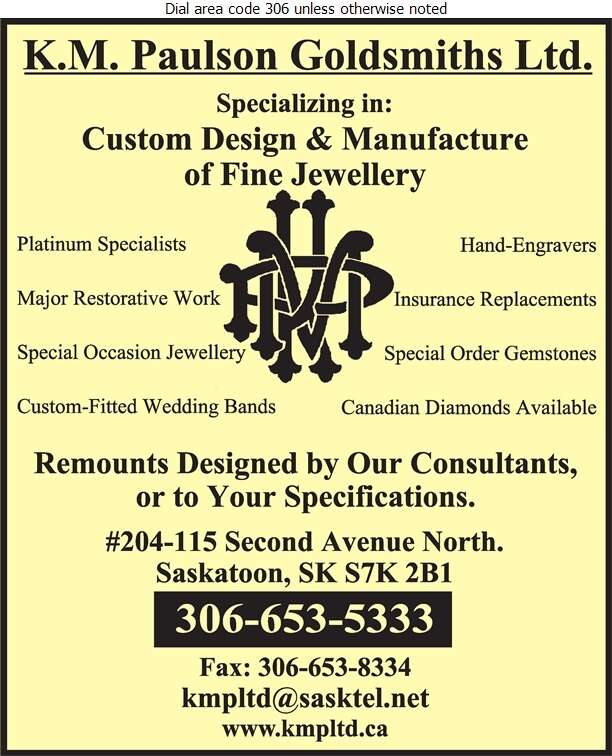 K M Paulson Goldsmith Ltd - Jewellers Retail Digital Ad