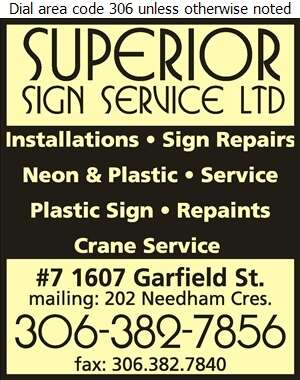 Superior Sign Service Ltd - Signs Digital Ad