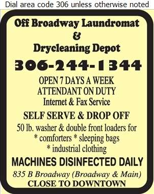 Off Broadway Laundromat & Drycleaning - Laundries Self Service Digital Ad
