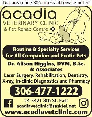 Acadia Veterinary Clinic - Veterinarians Digital Ad