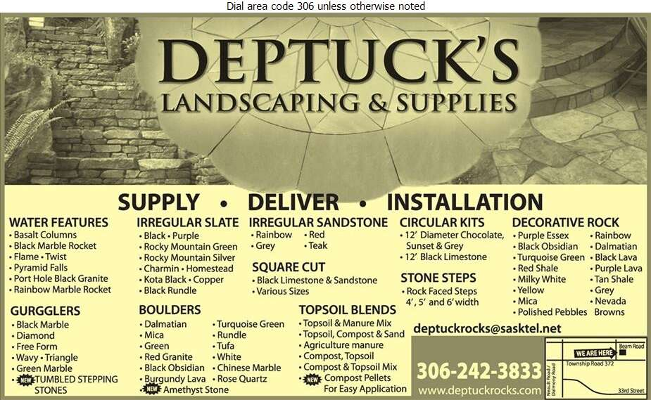 Deptuck's Landscaping & Supplies - Landscape Contractors & Designers Digital Ad