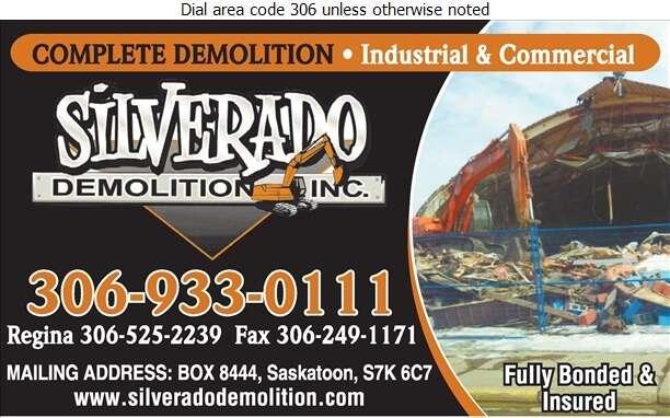 Silverado Demolition Operations - Demolition Contractors Digital Ad