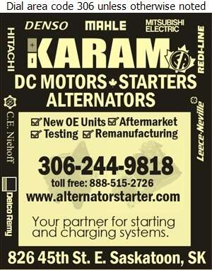Karam Auto Ltd - Truck Equipment & Parts Digital Ad