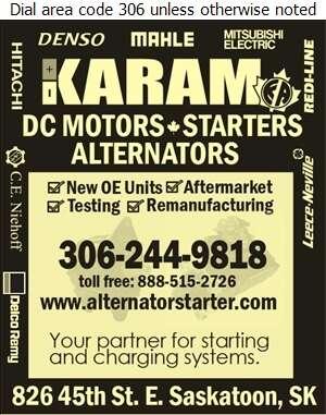 Karam Auto Ltd - Alternators Digital Ad