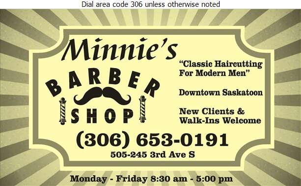 Minnie's Barber Shop - Barber Shops Digital Ad