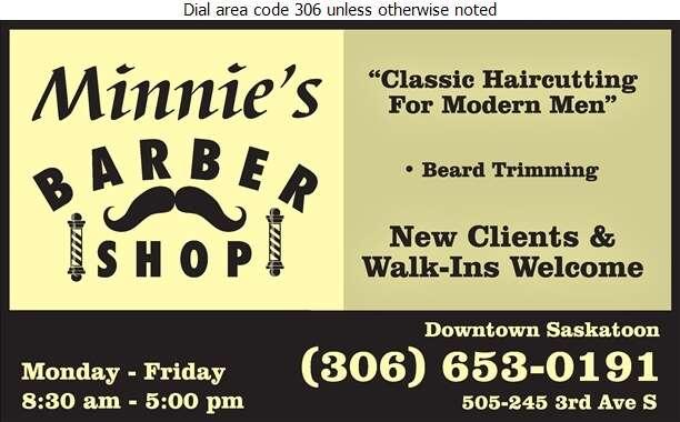 Minnie's Barber Shop - Barber Shops Digital Ad
