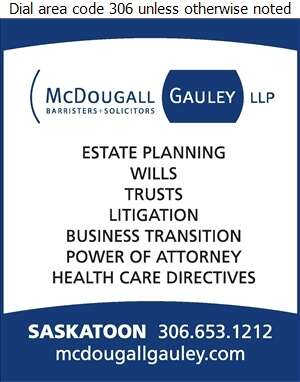 McDougall Gauley LLP (Barristers & Solicitors) - Estate Planning Consultants Digital Ad