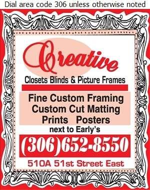 Creative Closets Blinds & Picture Frames - Picture Frames Dealers Digital Ad