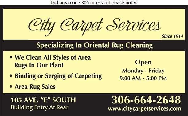 City Carpet Services - Carpet & Rug Binding, Fringing & Serging Digital Ad