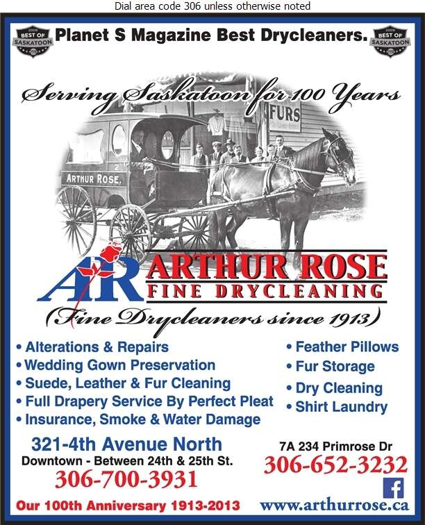 Arthur Rose Cleaners - Dry Cleaners Digital Ad