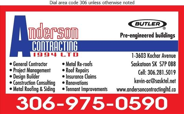 Anderson B+Contracting Ltd (B Anderson) - Contractors General Digital Ad