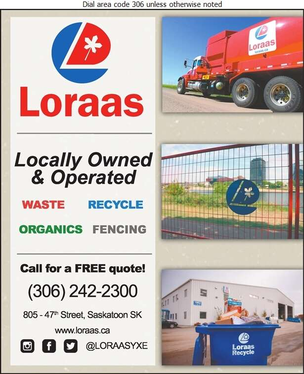 Loraas Disposal North Ltd - Garbage Collection Digital Ad