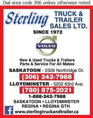 Sterling Truck & Trailer Sales Ltd - Truck Equipment & Parts Digital Ad