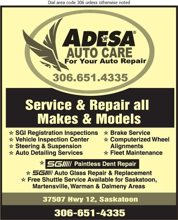 ADESA Auto Care - Auto Repairing Digital Ad