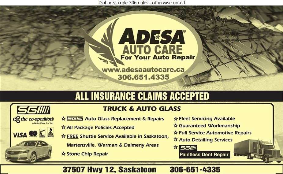 ADESA Auto Care - Glass Auto, Float, Plate, Window Etc Digital Ad