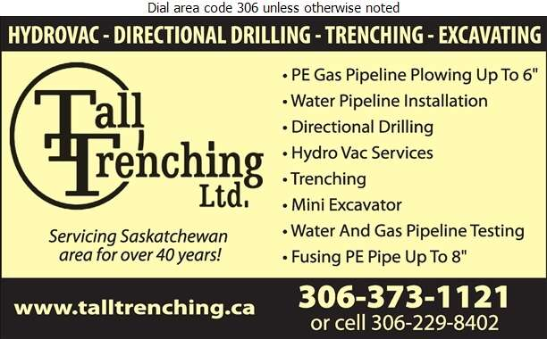 Tall Trenching - Hydrovac Contractors Digital Ad