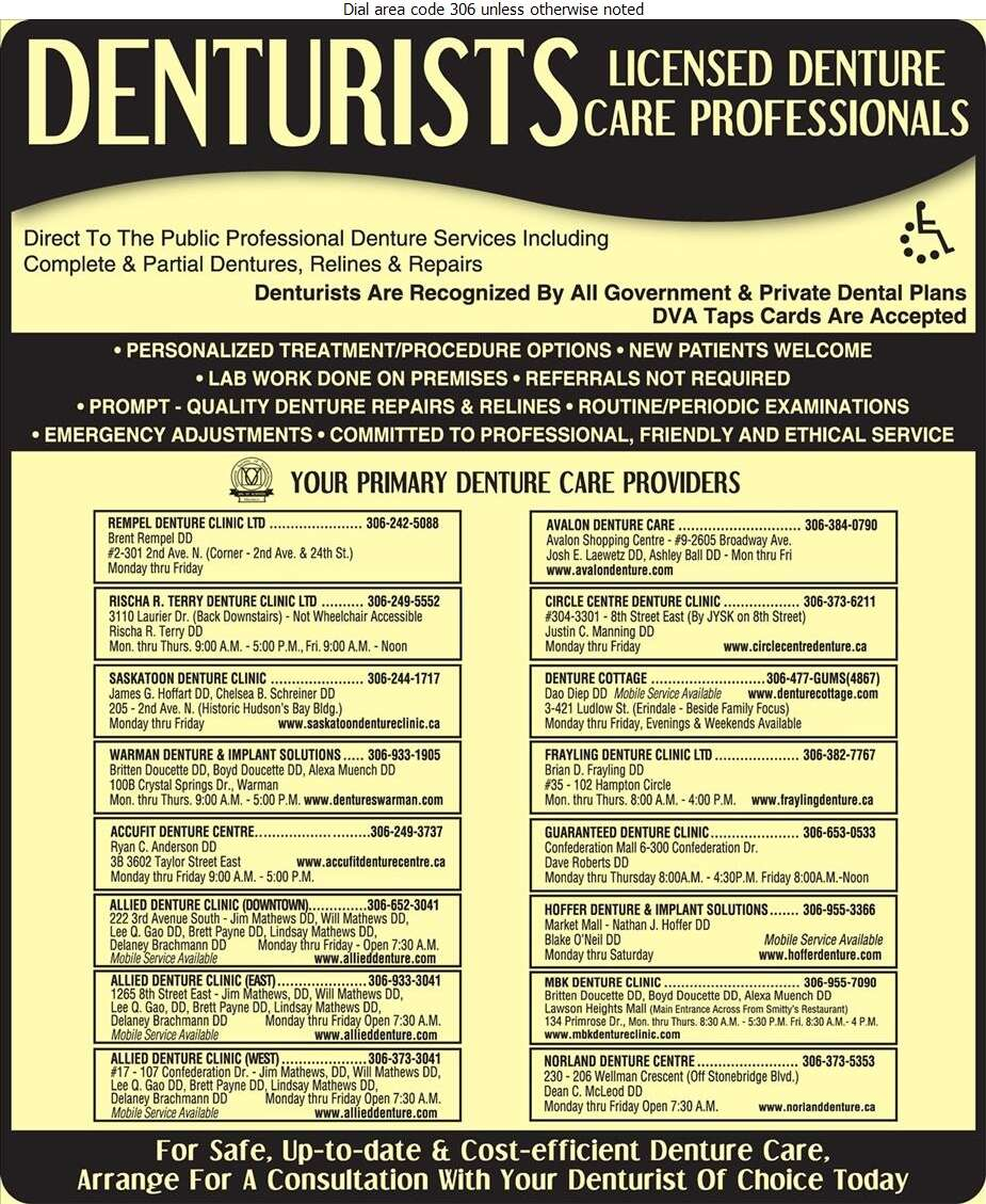 Frayling Denture Clinic Ltd - Denturists Digital Ad