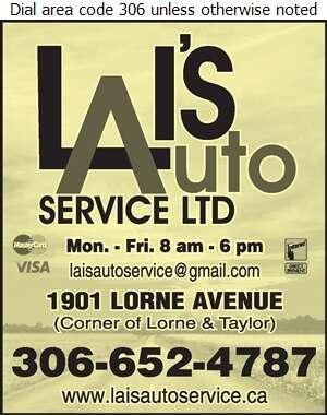 Lai's Auto Service - Auto Repairing Digital Ad