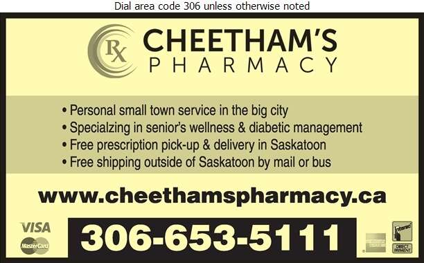 Cheetham's Pharmacy - Pharmacies Digital Ad